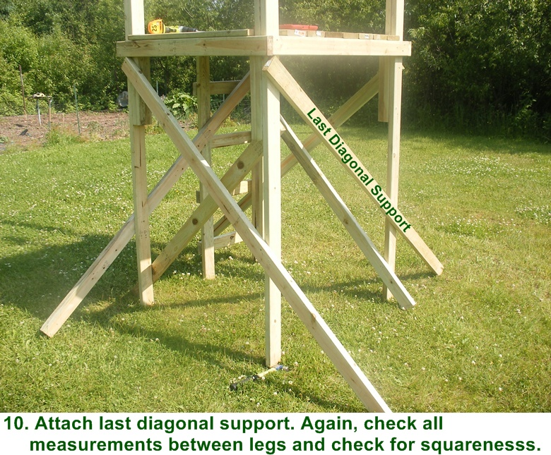 Free box deer stand building plans for Deer stand steps